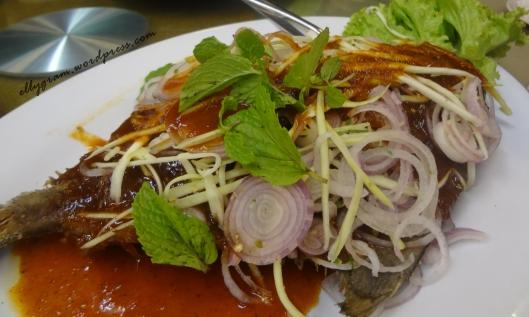 Thai style O-cheo fish.
